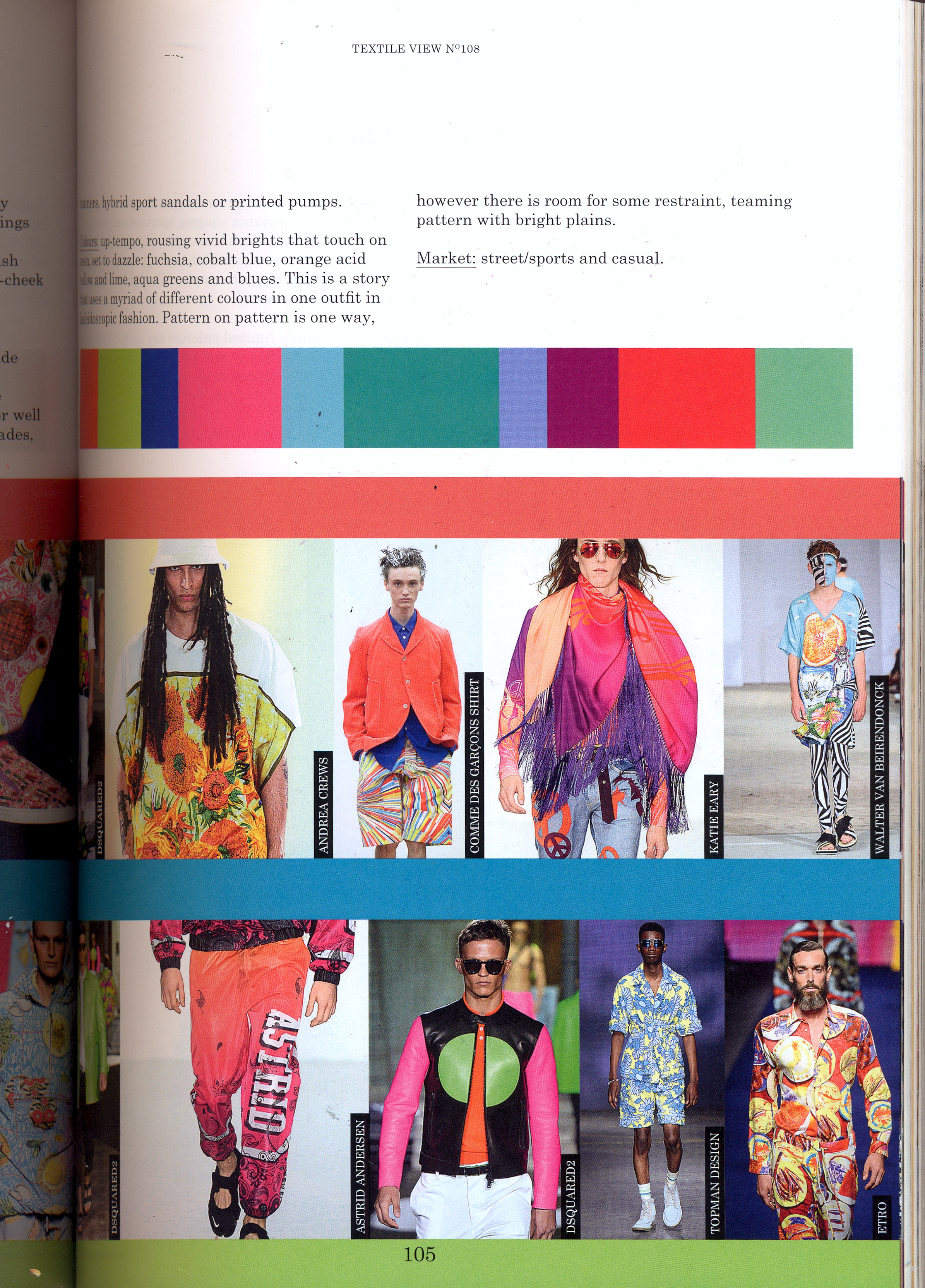 Trend Forecast And Colour Board Examples Fashion Design And Trend Prediction